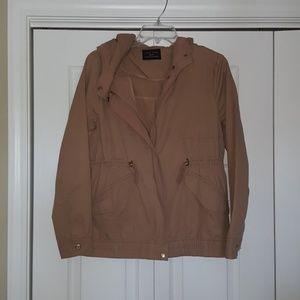 Love Tree hooded canvas utility jacket like new!